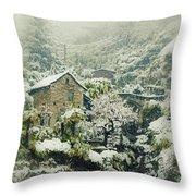 Switzerland In Winter Throw Pillow by Joana Kruse