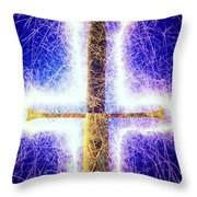 Sword With Sparks Throw Pillow