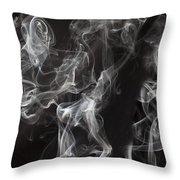 Swriling Smoke  Throw Pillow