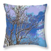 Sycamore Tree Branch Art Throw Pillow