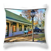 Sylvania Train Station Throw Pillow