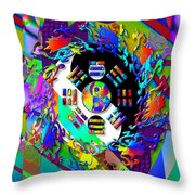 Symagery 3 Throw Pillow by Kenneth Armand Johnson