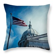 Symbol Of Freedom Throw Pillow by Toni Hopper