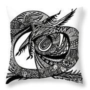 Symbol Of The Dragon Throw Pillow