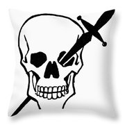 Symbol: Skull & Dagger Throw Pillow