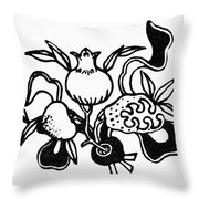 Symbol: Three Fruits Throw Pillow