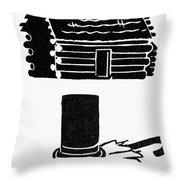 Symbols: Abe Lincoln Throw Pillow