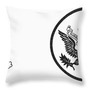 Symbols: U.s. Army Throw Pillow by Granger