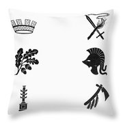 Symbols: Victory And War Throw Pillow by Granger