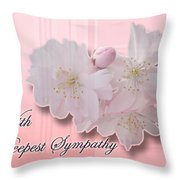 Sympathy - Cherry Blossoms Throw Pillow