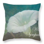 Sympathy Greeting Card - Wild Morning Glory - Bindweed Throw Pillow