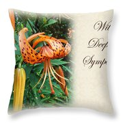 Sympathy Greeting Card - Wildflower Turk's Cap Lily Throw Pillow