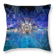Synesthetic Dreamscape Throw Pillow by Kenneth Armand Johnson