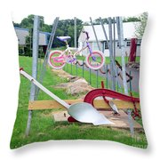 Syracuse Chilled Plow Co. Throw Pillow