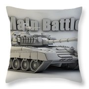 T-80 Main Battle Tank Throw Pillow