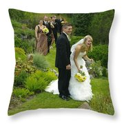 T And T 22 Throw Pillow
