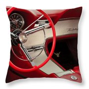T-bird Interior Throw Pillow by Dennis Hedberg