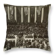 T. Roosevelt Inauguration Throw Pillow