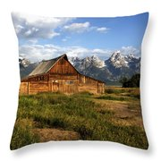 T.a. Moulton Barn Throw Pillow