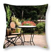Table For Two Throw Pillow by Stephanie Frey