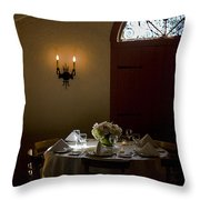 Table In Elegance Throw Pillow