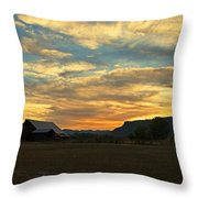 Table Rock Sunset And Barn Throw Pillow