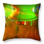 Table Topsy Turvy Throw Pillow by Randall Weidner