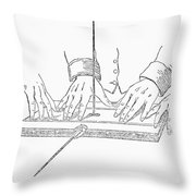 Table-turning Device, 1853 Throw Pillow