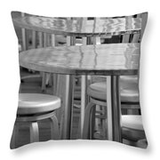 Tables And Stools Throw Pillow