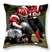 Tackle The Runner Throw Pillow