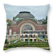 Tacoma Court House Throw Pillow