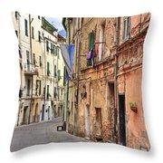 Taggia In Liguria Throw Pillow