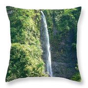 Tahitian Waterfall Throw Pillow