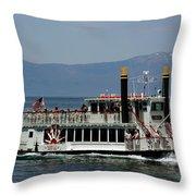 Tahoe Gal On Lake Tahoe Throw Pillow