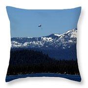 Tahoe Parasailing Throw Pillow