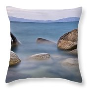 Tahoe Rocks Throw Pillow