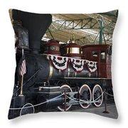 Tahoe Steam Locomotive Throw Pillow