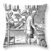 Tailors, 16th Century Throw Pillow