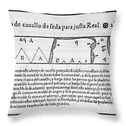 Tailors Pattern Book, 1589 Throw Pillow