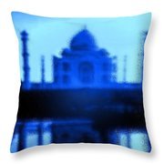 Taj Mahal Blues Throw Pillow