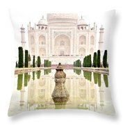 Taj Mahal On The Vertical Throw Pillow