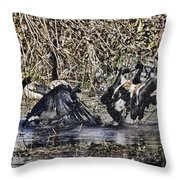 Taking A Stance Throw Pillow