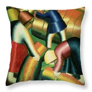 Taking In The Rye Throw Pillow