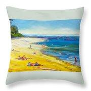 Taking It Easy At Coloundra Beach Queensland Australia Throw Pillow