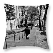 Taking The Stairs Throw Pillow