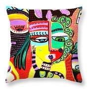 Talavera Dancers Throw Pillow