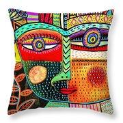 -talavera Owl Goddess Throw Pillow