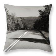Talimena Roads I Throw Pillow