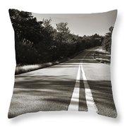 Talimena Roads II Throw Pillow