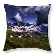 Talkeetna Mountains In Summer Throw Pillow